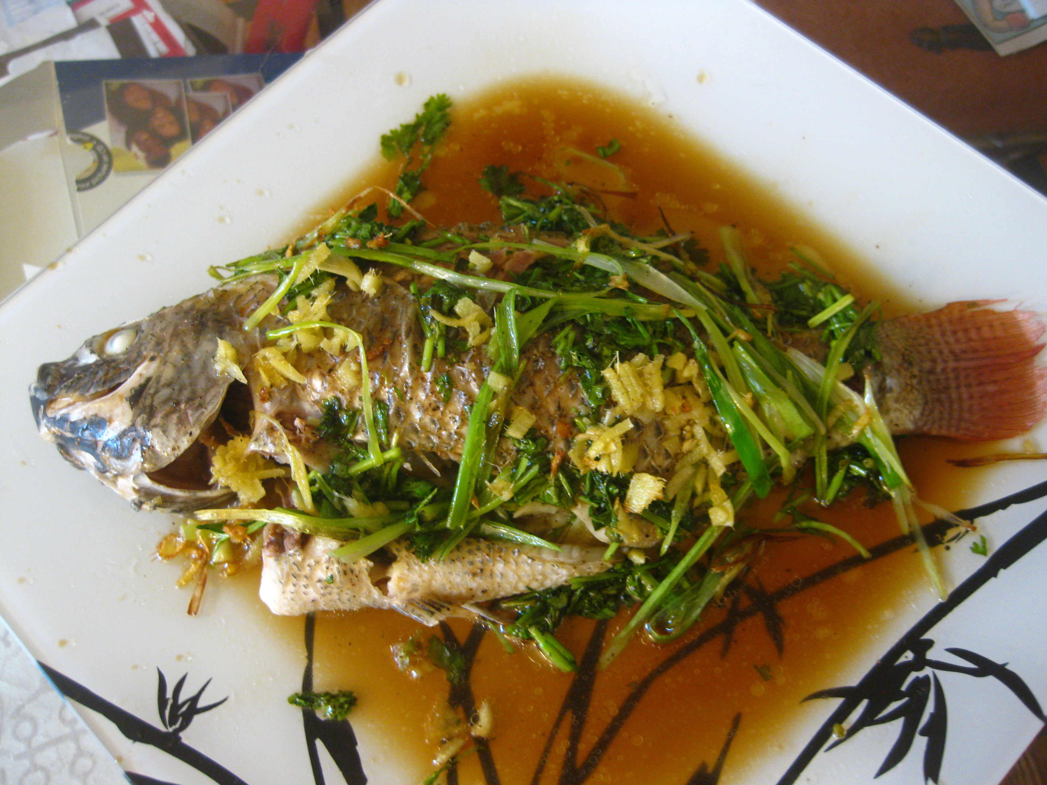 Chinese style steamed fish food comas for Steam fish recipe