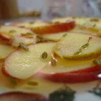Poached Saffron Apples