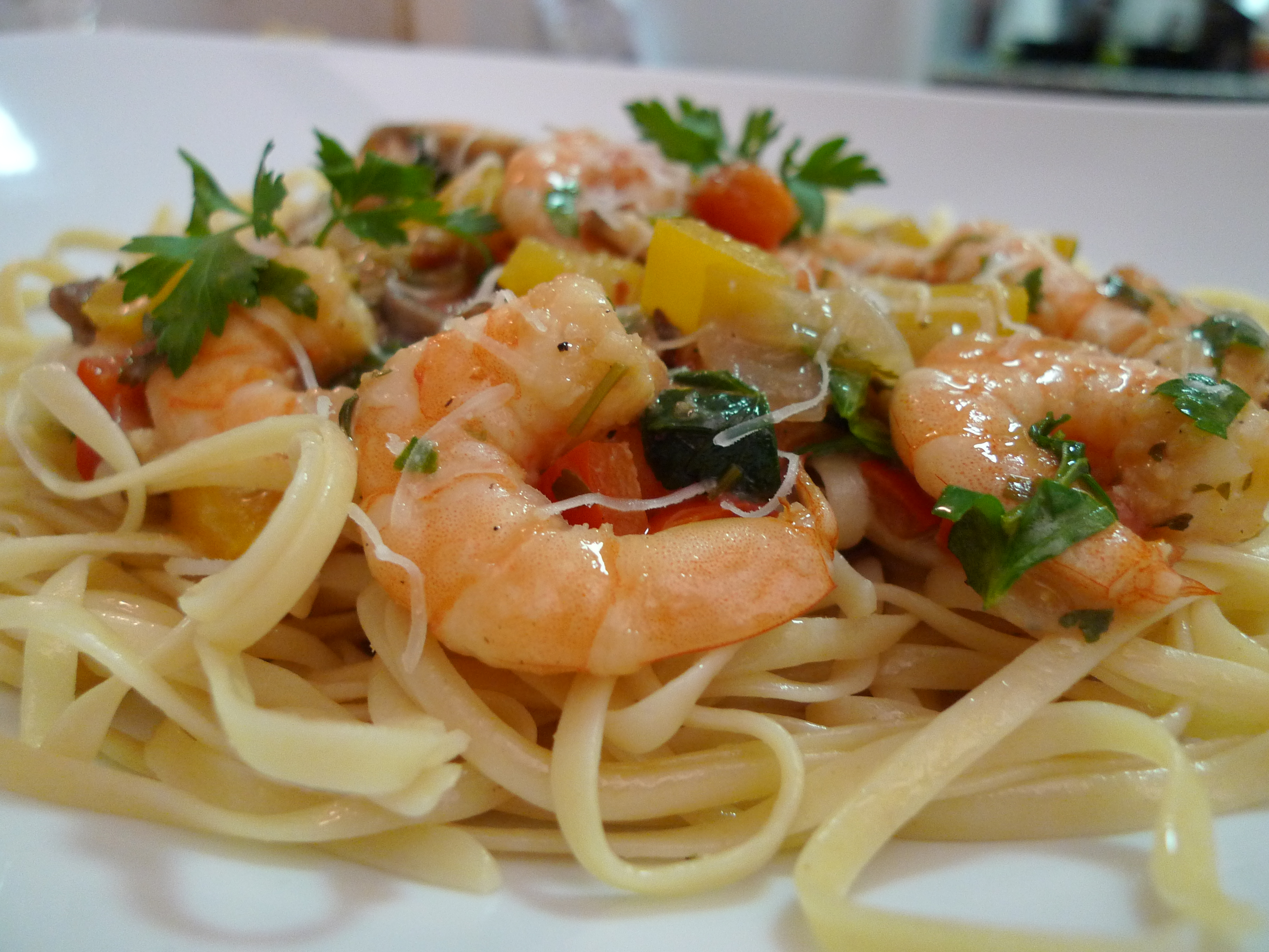 the first time i made shrimp scampi pasta was with my friend susie and ...