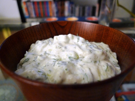 Tzatziki (cucumber and yoghurt dip)