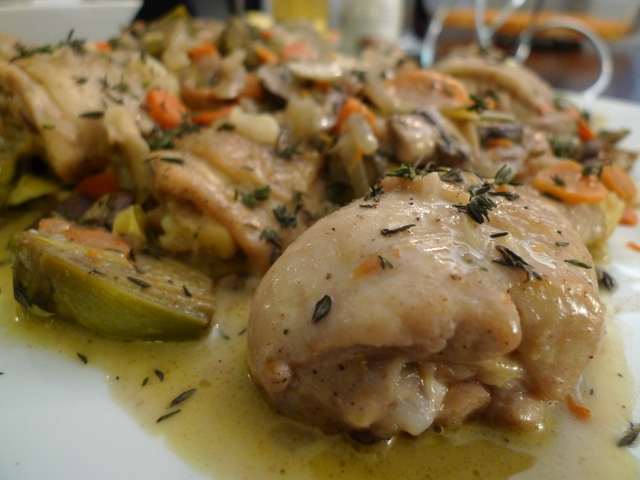 Chicken and Artichoke Fricassée with Mushrooms | food comas