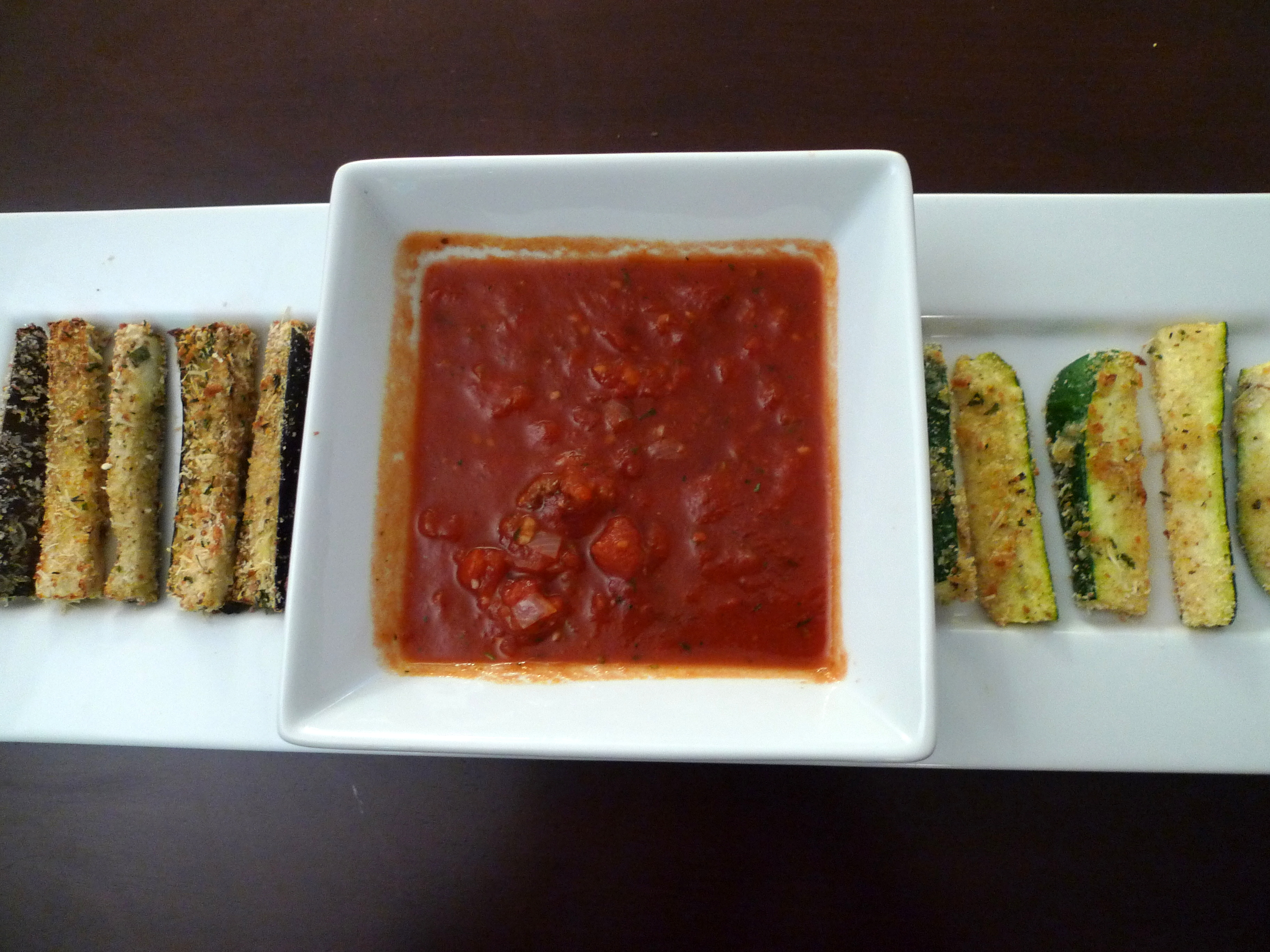 Baked Eggplant and Zucchini Sticks (adapted from Mary Murphy's ...