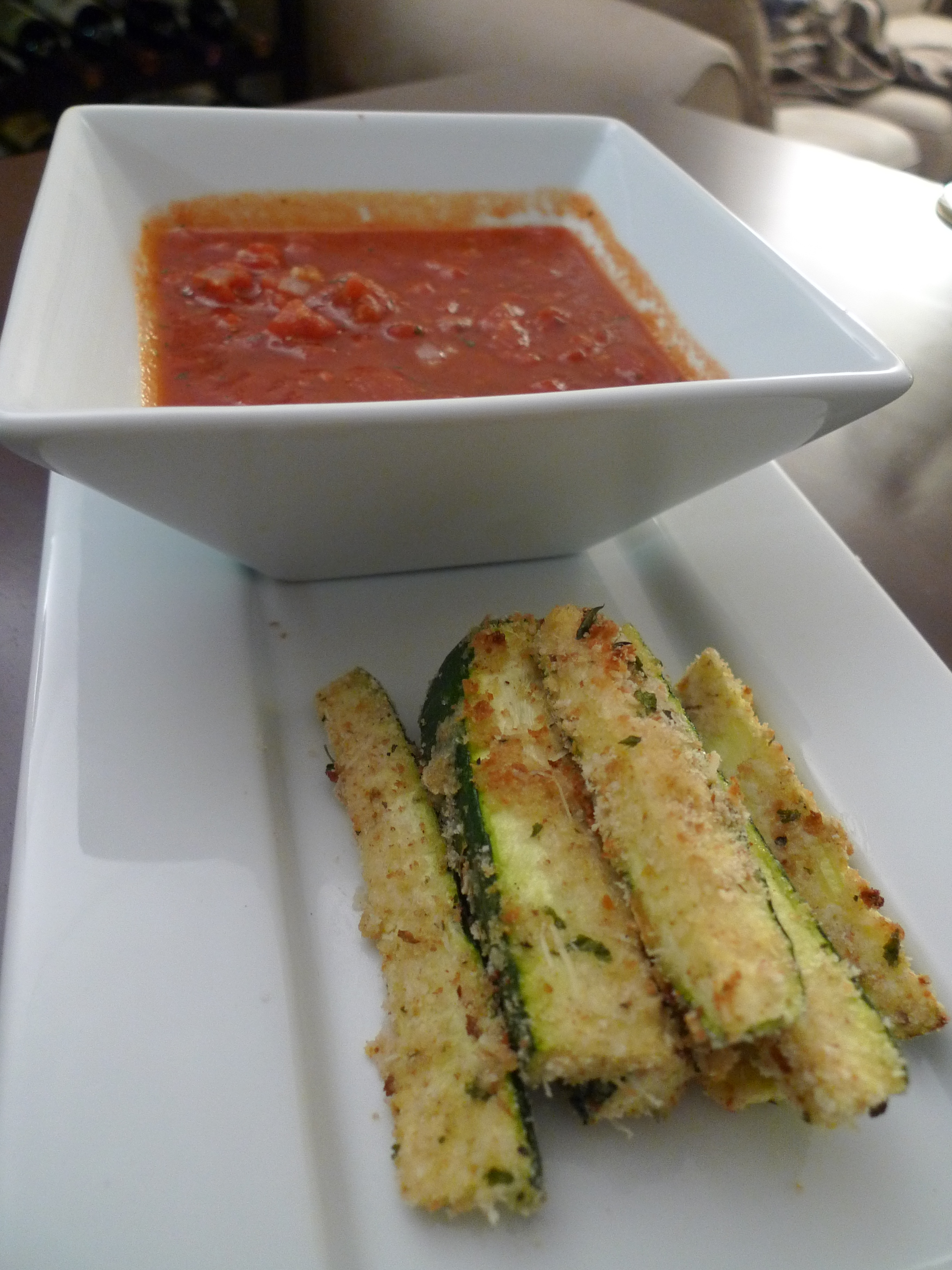 Baked Eggplant and Zucchini Sticks | food comas
