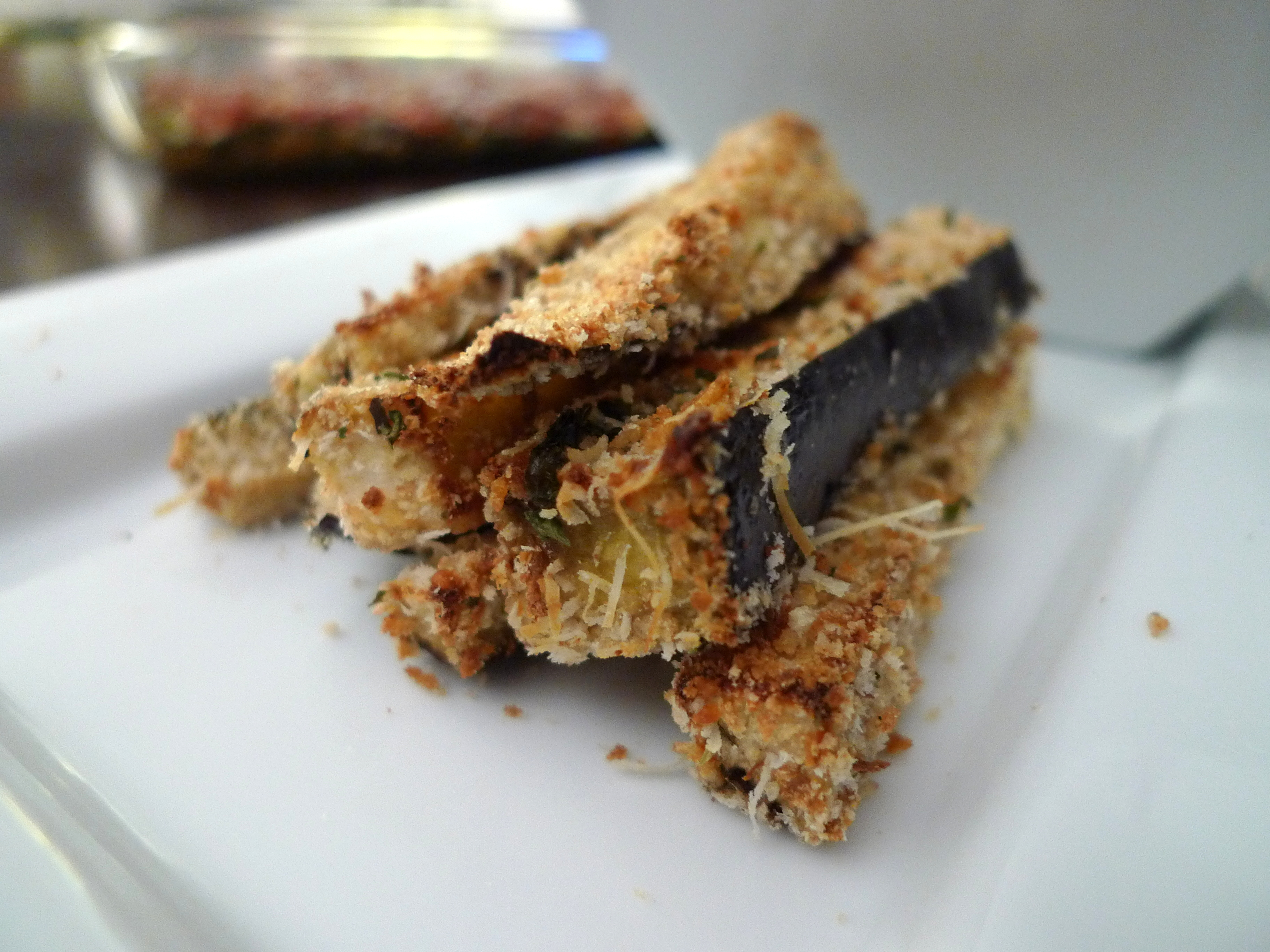 baked eggplant sticks