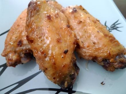 garlic soy chicken wings