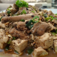 Szechuan Braised Rabbit with Tofu and Peanuts