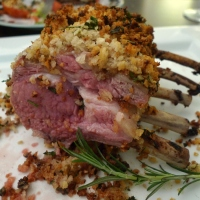 Herb-Crusted Rack of Lamb with Honey Mustard Glaze