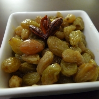 Wine-Steeped Golden Raisins