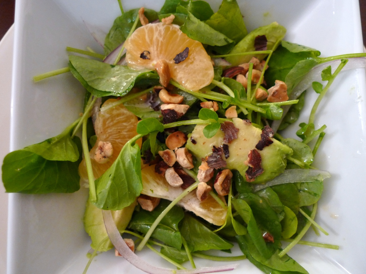 Watercress, Avocado and Orange Salad