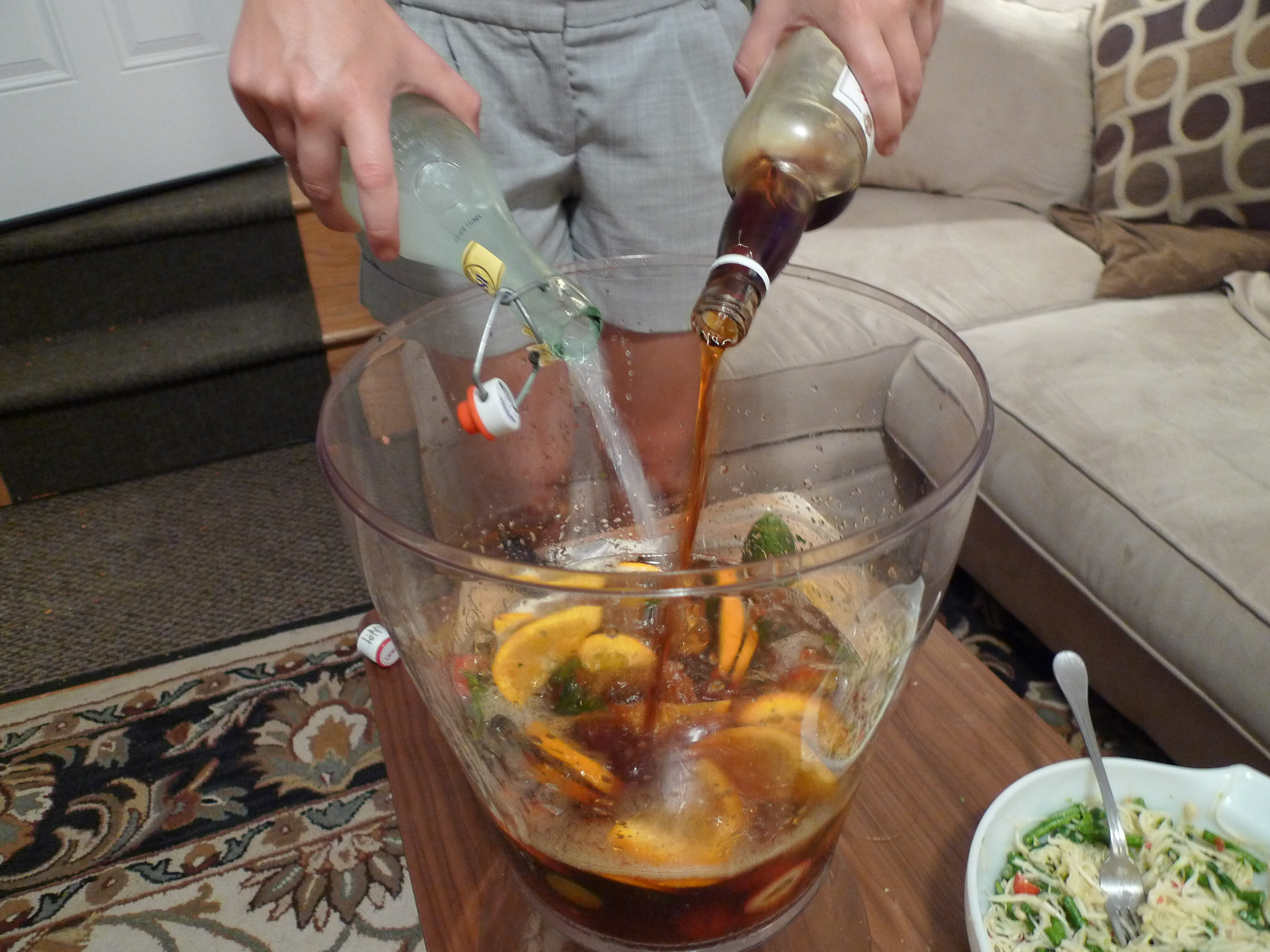 how to cut fruit for pimms