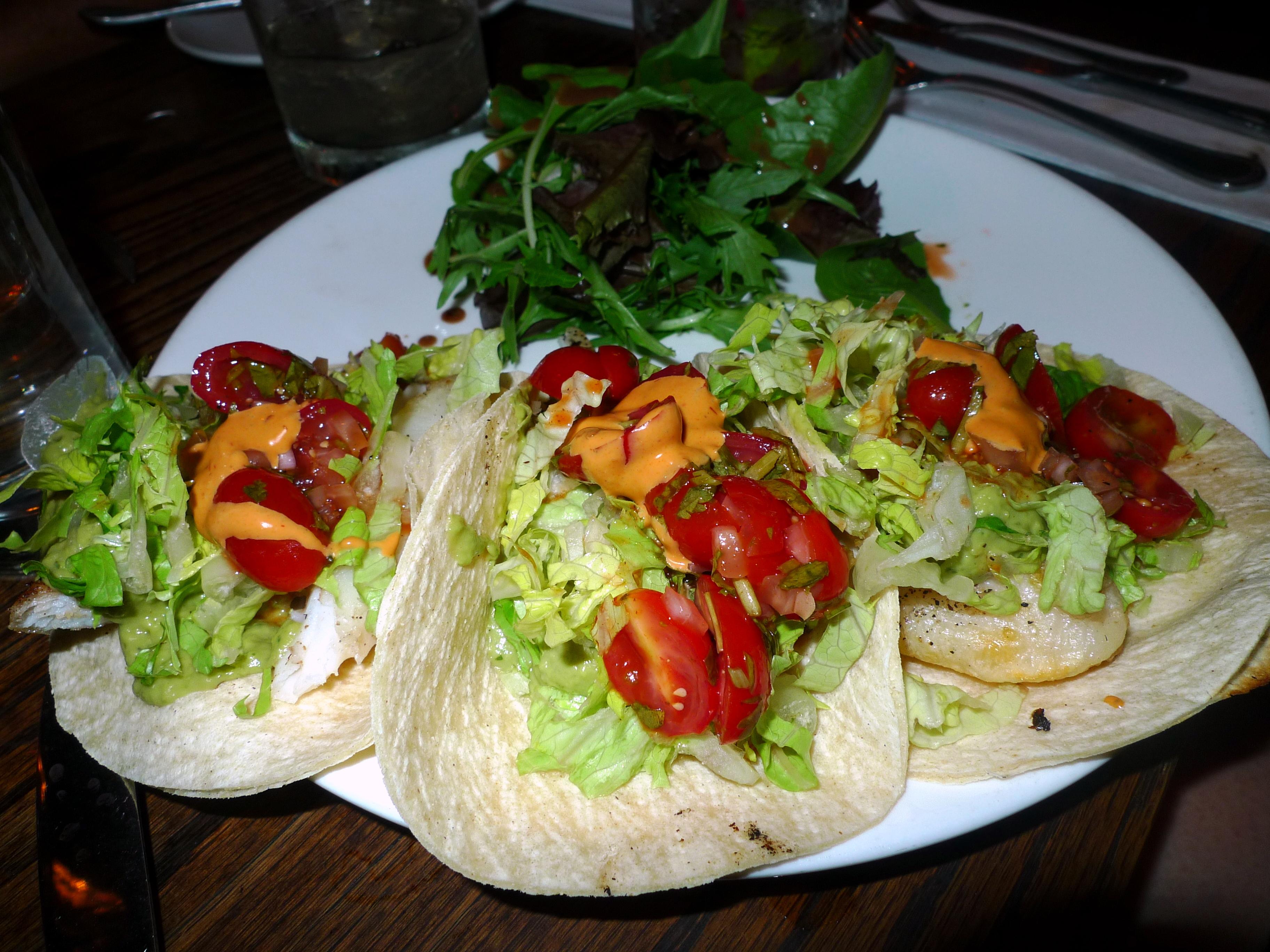 Salt and salt bar nyc food comas for Flounder fish tacos