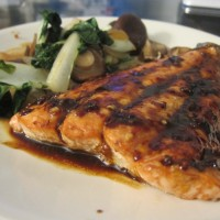 "Salmon ""Bulgogi"" With Bok Choy and Mushrooms"