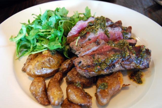 grass fed beef sirloin w.chimichurri