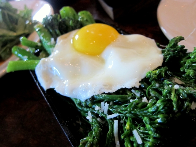 broccolini w.grana and LMR farm egg
