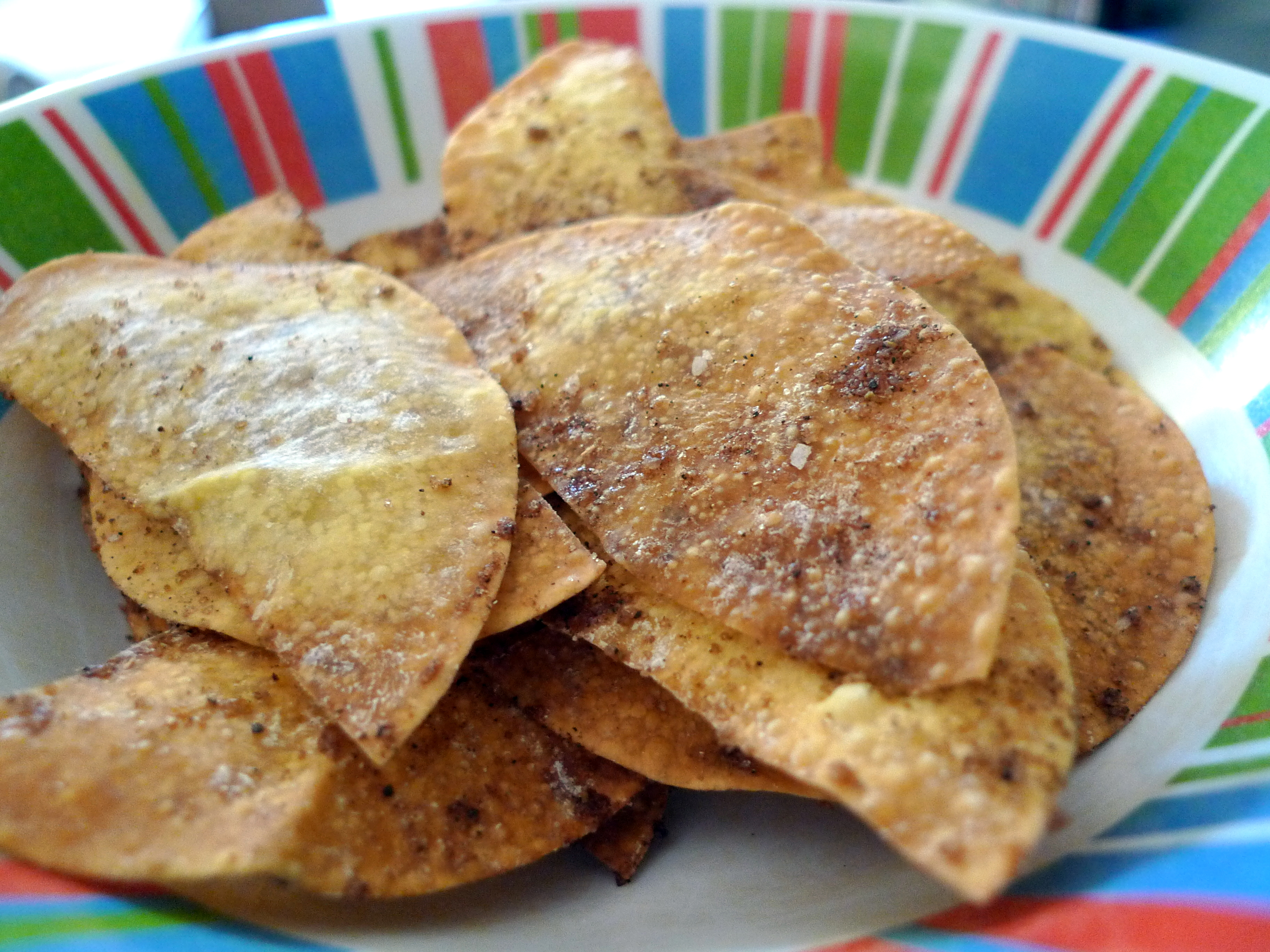 Spiced Wonton Chips | food comas