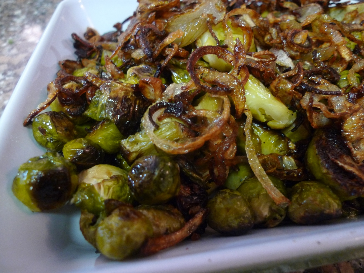 Roasted Brussels Sprouts with Crispy Shallots