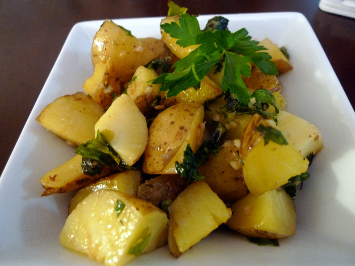 Garlic Parsley Potatoes Food Comas