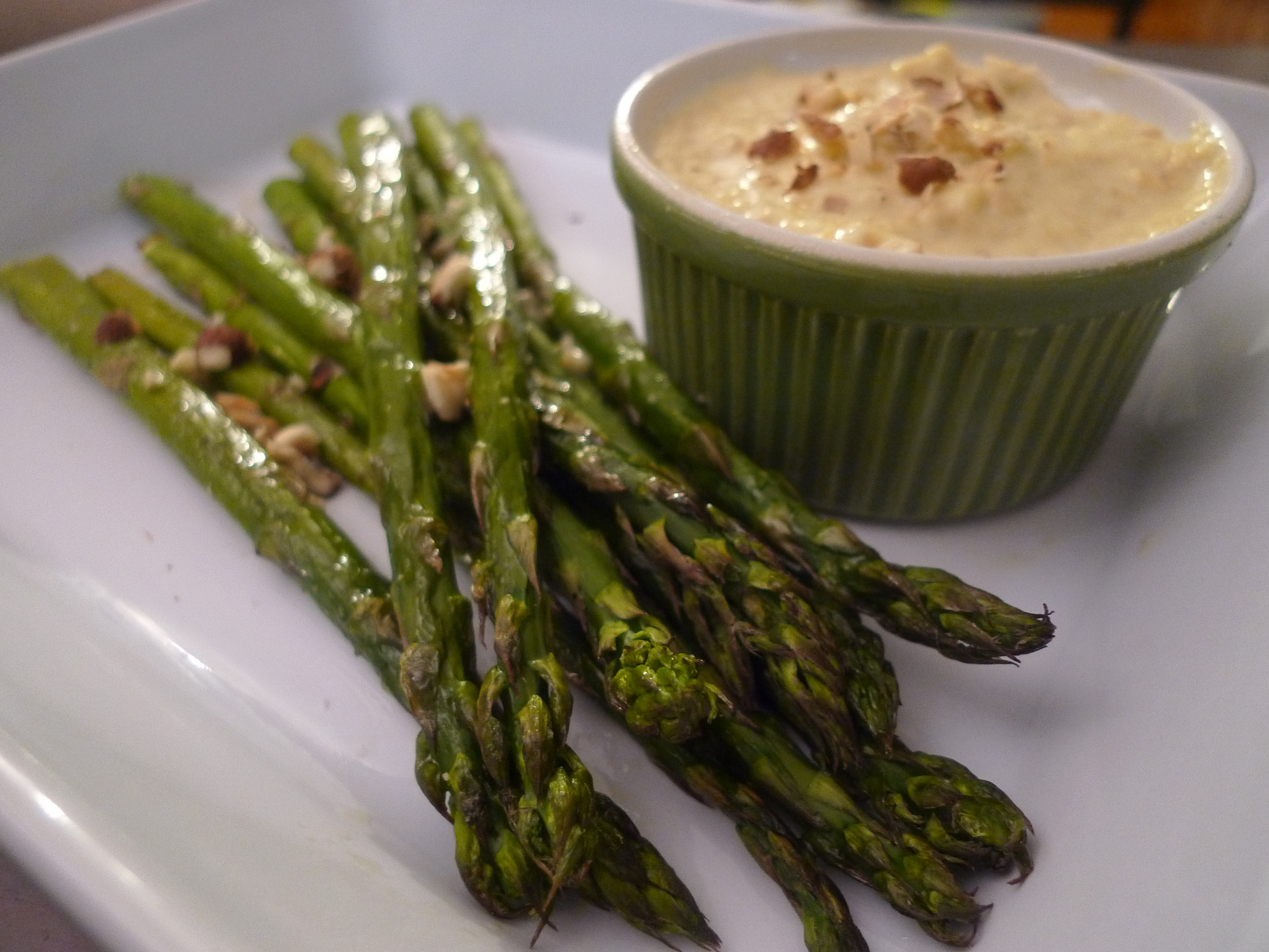 Image result for Roasted Asparagus with Pickled Shallots, Toasted Hazelnuts & Classic Aioli