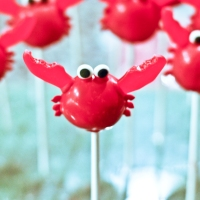 Red Velvet Crab Cake Pops
