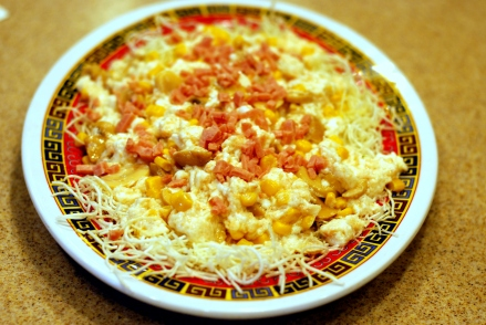 Scrambled Egg Whites with Crab Meat