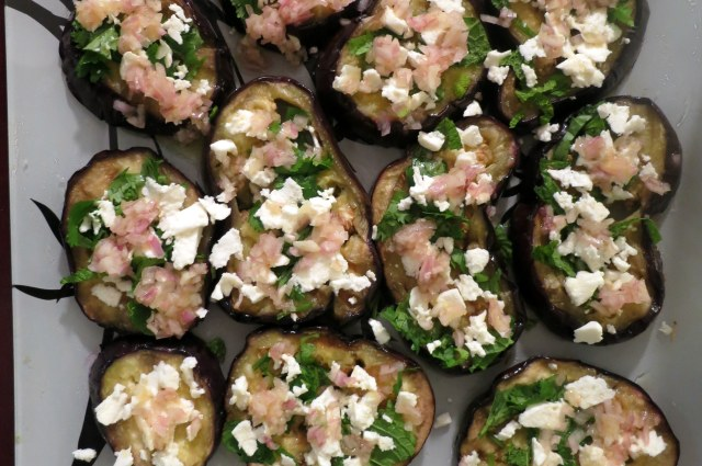 Grilled Eggplant with Garlic-Cumin Vinaigrette, Feta & Herbs | food ...