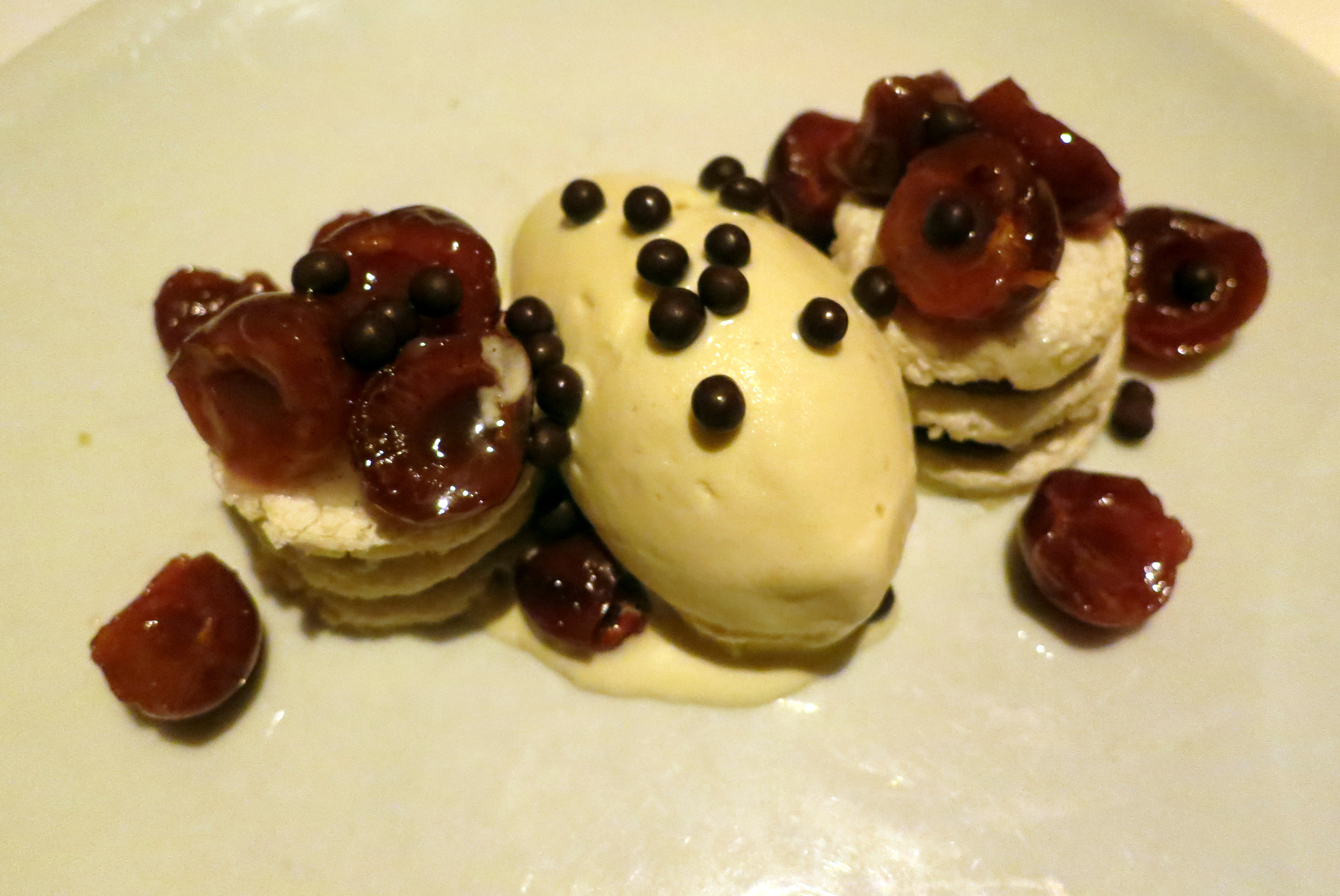 Pink Peppercorn Panna Cotta With Macerated Cherries Recipes ...