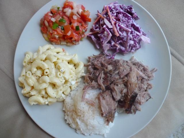 Hawaiian BBQ plate