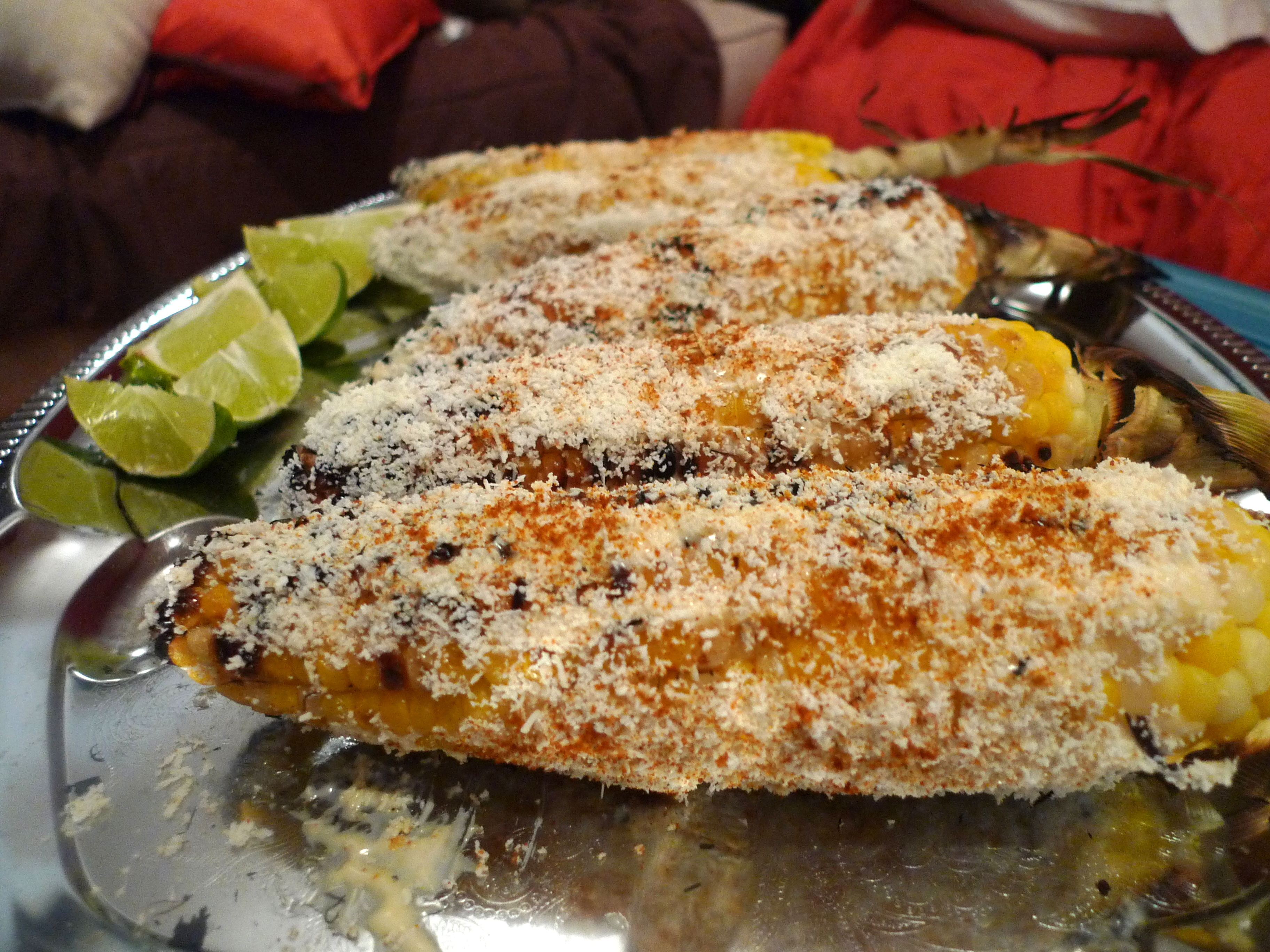 serve with lime wedges and sprinkle additional cayenne
