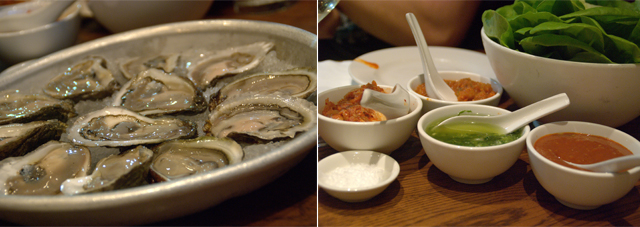 oysters and sauces