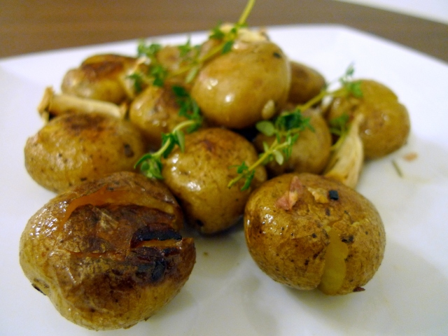 Smashed Roasted Mini Potatoes