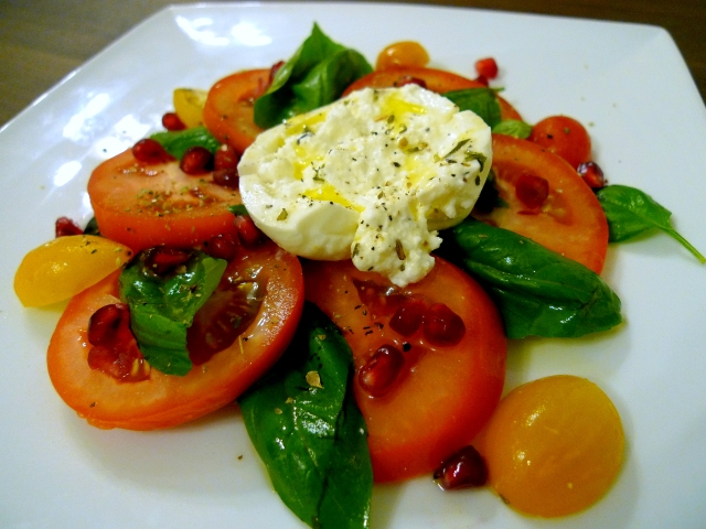 drizzle with olive oil and season