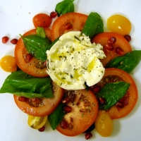 Burrata, Tomato and Basil Salad