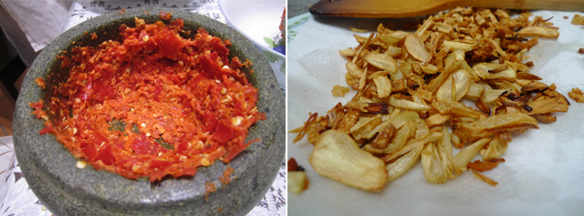 hand ground chilli paste + fried garlic