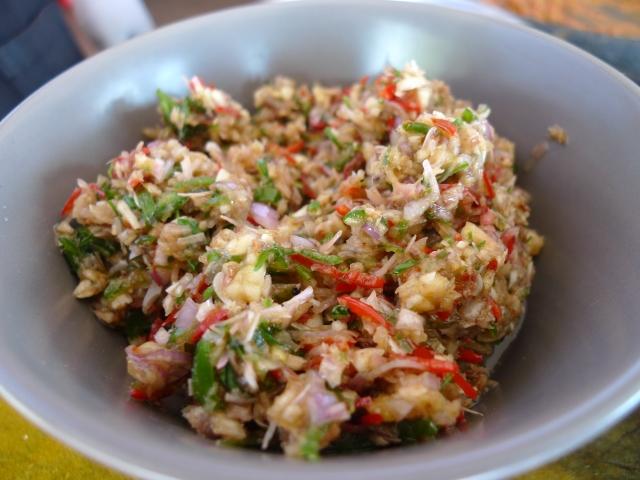 sambal matah - lemongrass + shallot sambal
