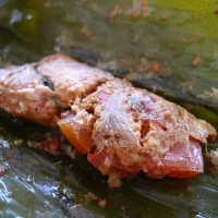 Pepes Ikan (Steamed Marinated Fish in Banana Leaf)