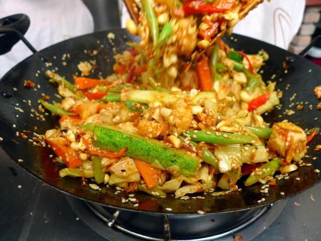 pickled veggies + toasted sesame + peanuts