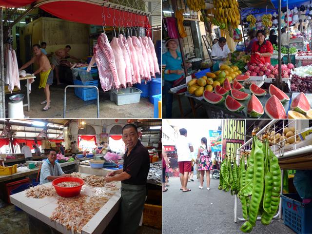 penang market tour