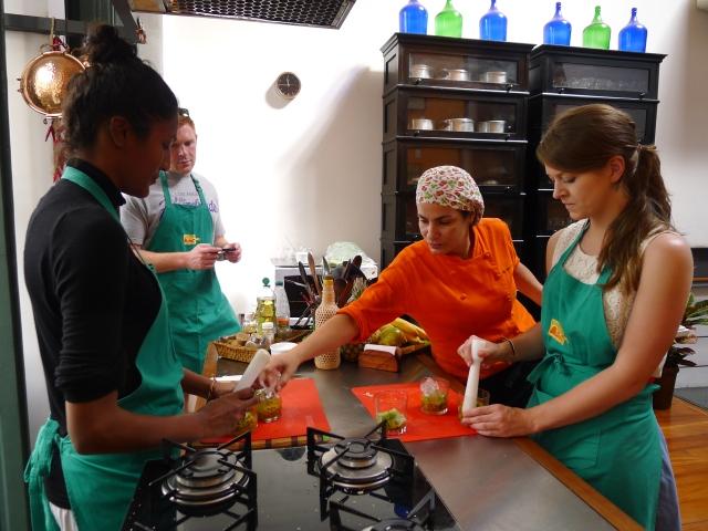 making caipirinhas