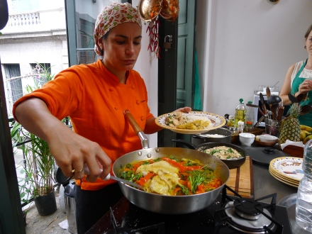 brazilian cooking class in Rio - making moqueca - brazilian seafood stew