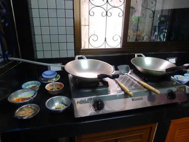 individual cooking stations