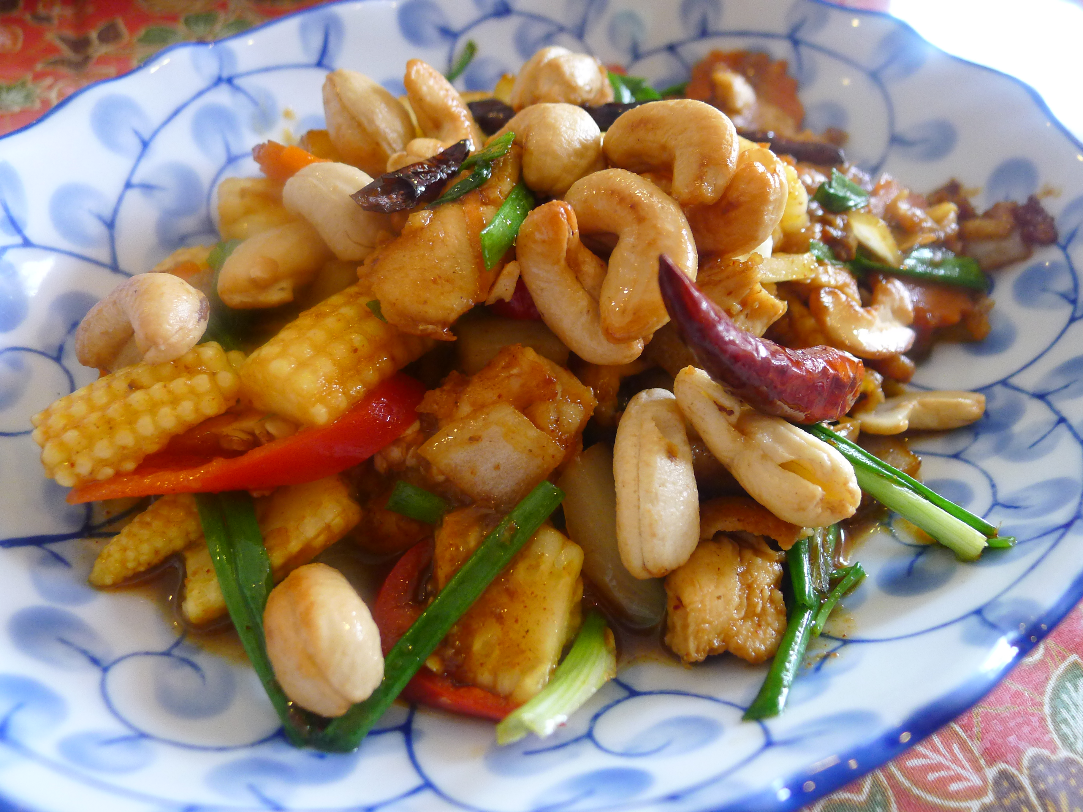 Cashew Nut Chicken (recipe courtesy of Kata Thai Cooking Class )