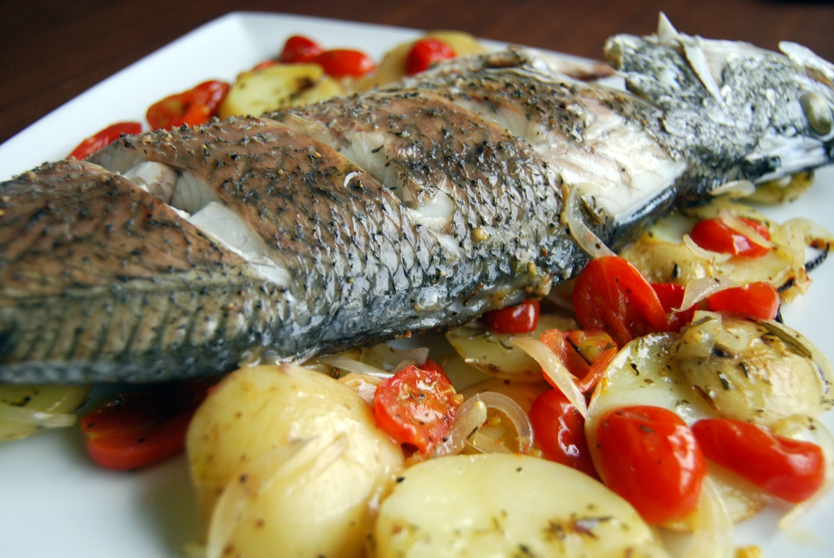 Baked Sea Bass