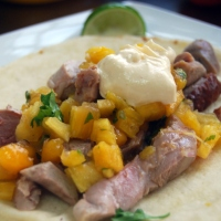 Pulled Duck Tacos with Mango Pineapple Salsa