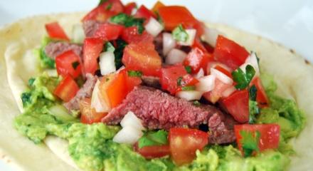 Skirt Steak Tacos with Guac + Pico de Gallo