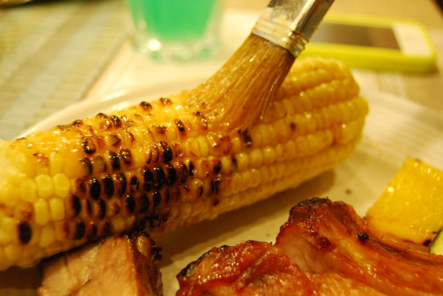 Roasted Corn on the Cob with Chili Lime Butter