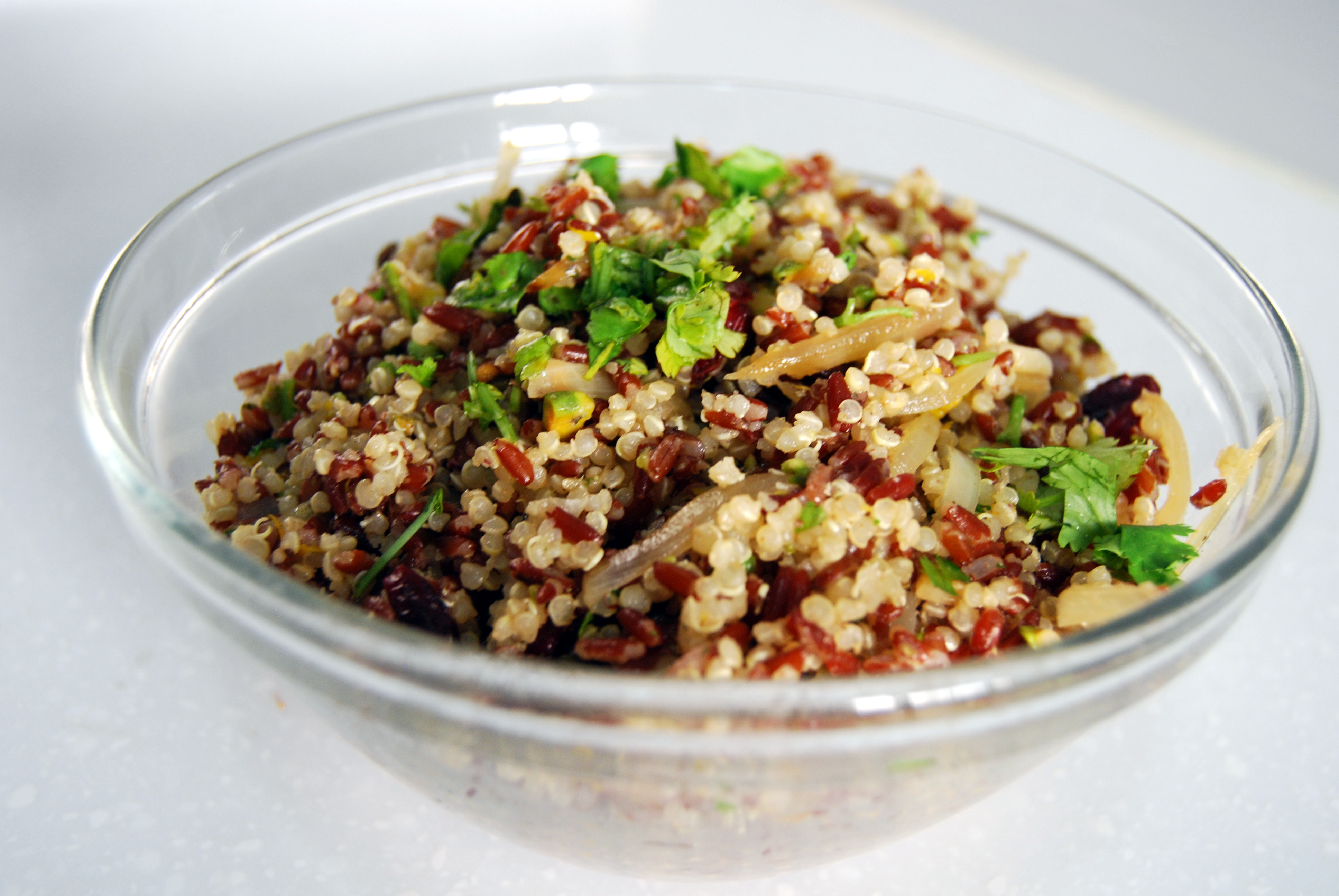 Red Rice and Quinoa Salad with Pistachios and Craisins (adapted from ...