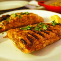 Grilled Paprika Salmon with Tzatziki