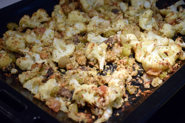 slow roast the stuffing until the nuts are crunchy again