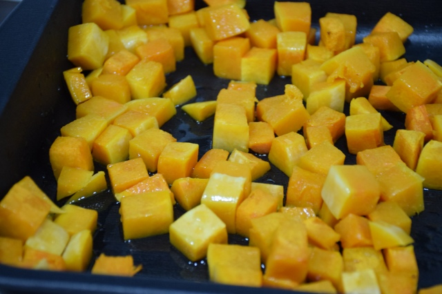 roast the butternut squash with olive oil