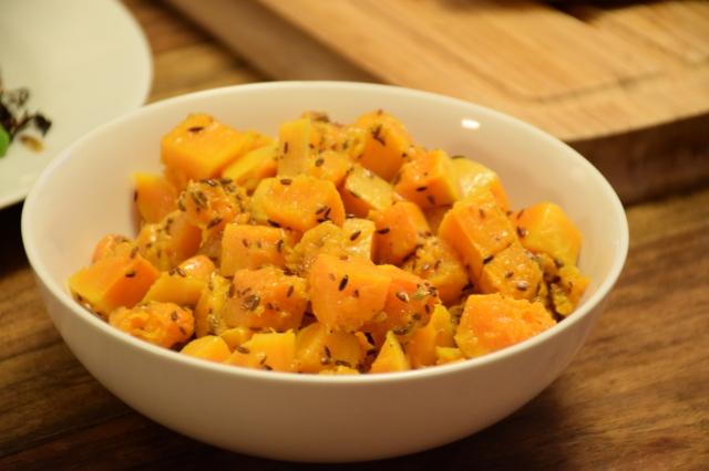 toss the vinaigrette with the squash